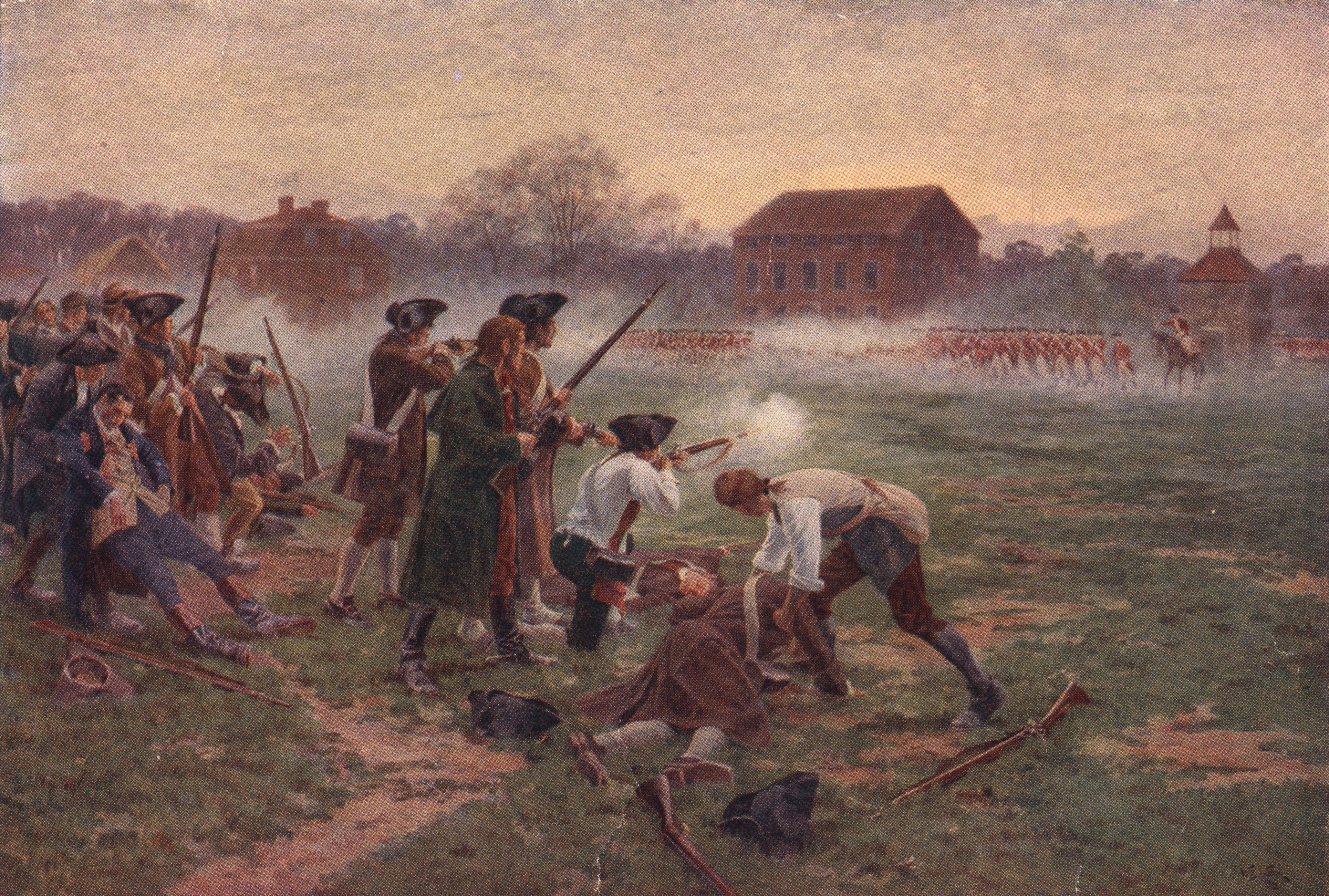 the first shot of the revolutionary war